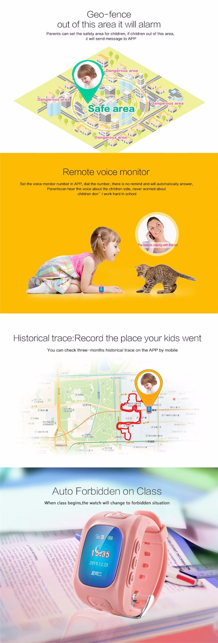 Купить 2016 Новые GPS Tracker Часы для Детей SOS Аварийного GSM Smart Watch GPS + LBS + WiFi Место Для IOS и Android Мобильного Телефона Сигнализации