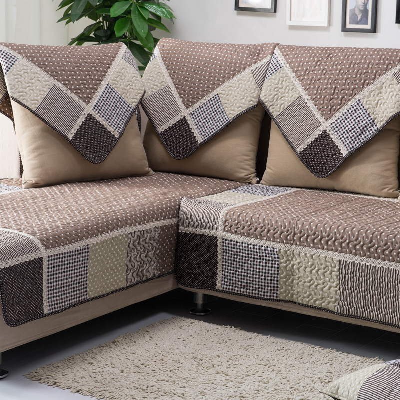 100% Cotton Sofa Towel Set Patchwork Sofa Covers Modern Couch Covers Quilted Blanket on Couch Sectional Case on Sofa Corner Mat(China (Mainland))