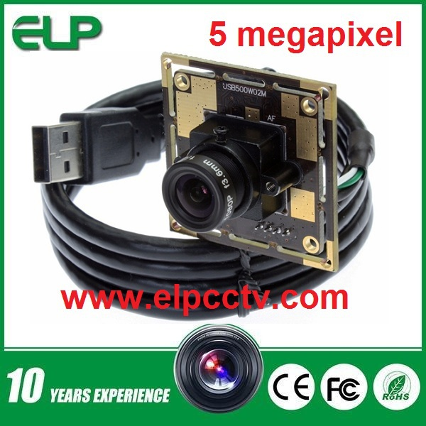 5MP CMOS OV5640 MJPEG YUY2 HD USB camera module with 2.8mm lens for electronic machine(China (Mainland))