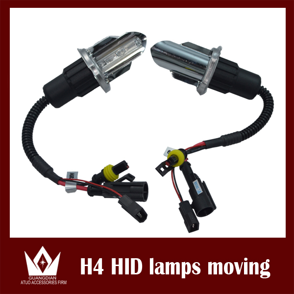 Night Lord 2pcs/pair 35W H412V AC HID Headligh Bi xenon h4 Swinging light bulb HID H4 HI/LO Xenon bulb h4 6000K Hi Lo Beam Lamp(China (Mainland))