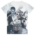 Suicide Squad Mens Harley Quinn Joker 3D T Shirt Top Short Sleeve