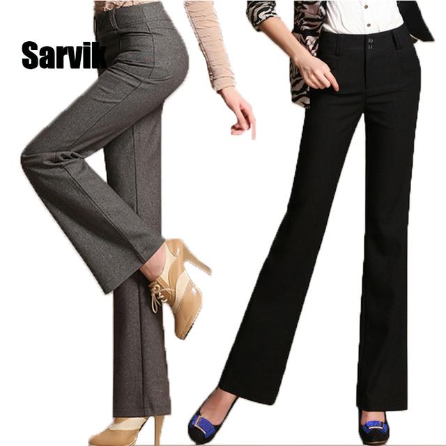 Продажа! Женщины белье работа в офисе брюки Большой размер 3XL дамы широкую ногу ...