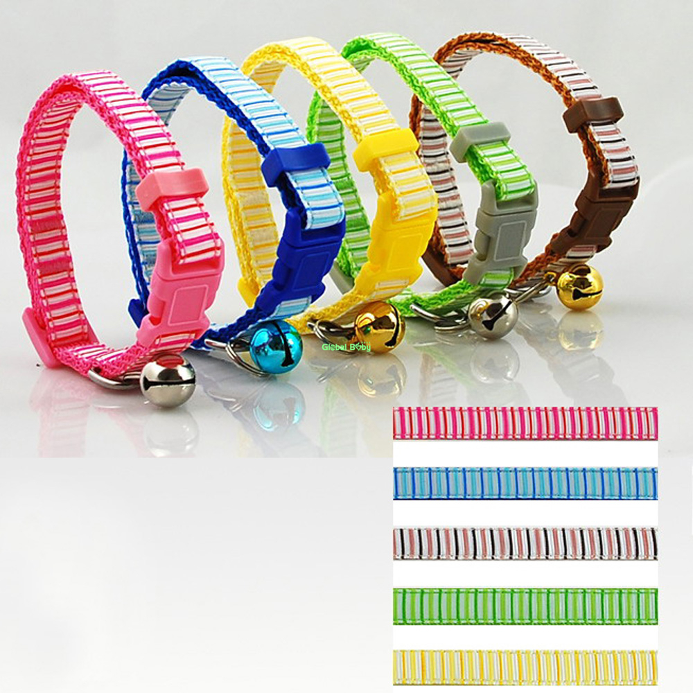 2 Sizes New Arrival Striped Vertical Lines Nylon Cat Puppy Small Neck Lace Dog Pet Teddy Collar(China (Mainland))