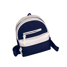 casual canvas patchwork small rucksack high quality women clutch purse ladies famous brand shoulder bags school student backpack(China (Mainland))
