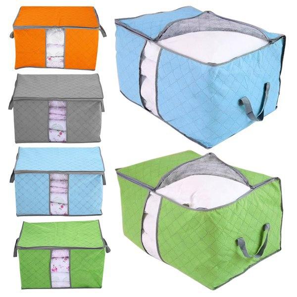 storage bags housse de rangement pour couette vetement stockage sac boite pliable rangement in
