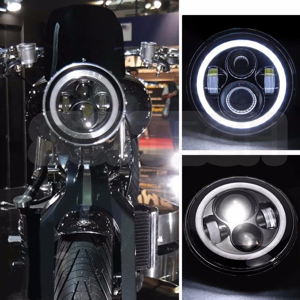 40W red angel eye 7'' LED Headlight For Wrangler JK TJ LJ H4 Hi-lo Beam Front Driving Headlamp(China (Mainland))