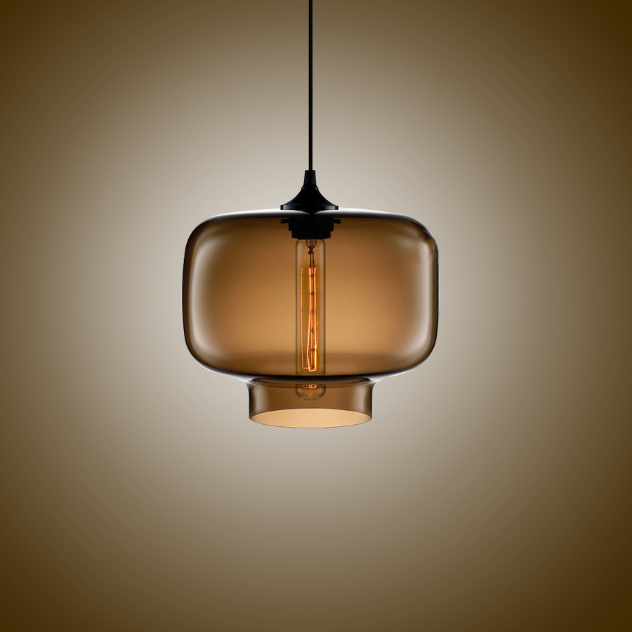 Simple Modern Pendant Lights With Glass Ball Lamp Shade In