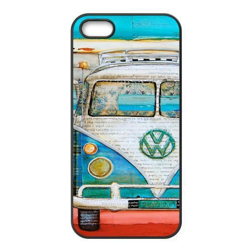 Car Vintage Volkswagen VW Van Bus Cool Unique Hard Plastic Case Cover for iphone 4/4s/5/5s/5c/6/6s/6plus/6s plus(China (Mainland))