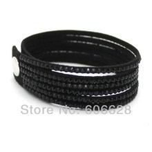New Fashion 6 Layer Leather Bracelet Factory Discount Prices Charm Bracelet 1 Free Shipping 13 Color
