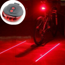 Bicycle LED Light 2 Lasers Night Cycling Mountain Road Bike Saddle Safety Light MTB Road Rear Lights Lamp Backlight 7 Mode N1003(China (Mainland))