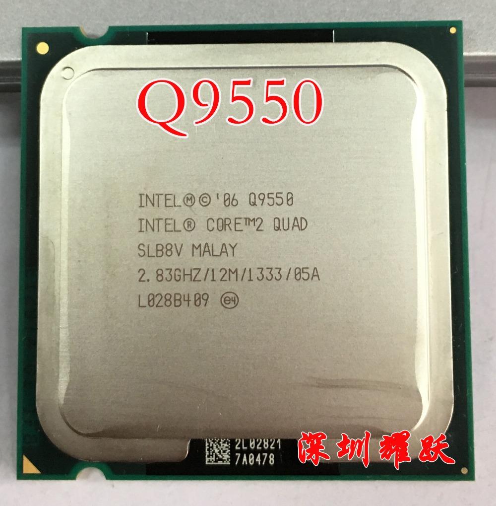 Intel Core2 Quad Processor Q9550 CPU SLB8V EO (12M Cache, 2.83 GHz, 1333 MHz FSB) EO LGA775 Desktop CPU(China (Mainland))