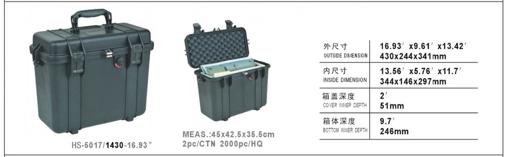 Waterproof tool hard  case,344*146*297mm Dustproof, Anti Corrossion Protective, Camera Protective Case Instrument box  MJ-5022<br><br>Aliexpress