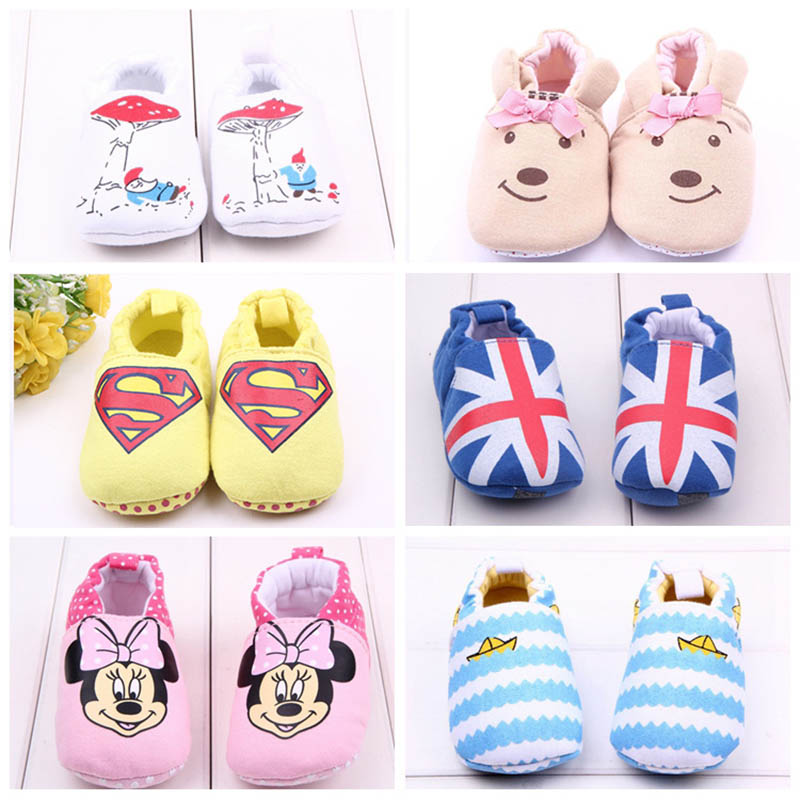 2016 New Princess Baby Shoes Unisex Infant Toddler Soft Sole Girls Bebe Cotton First Walkers Shoes Lovely Bear Kids Prewalker(China (Mainland))