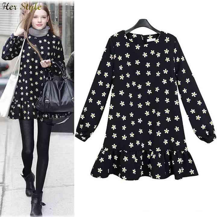 Free Shipping new code temperament long sleeve slim dress pattern 1432216663(China (Mainland))