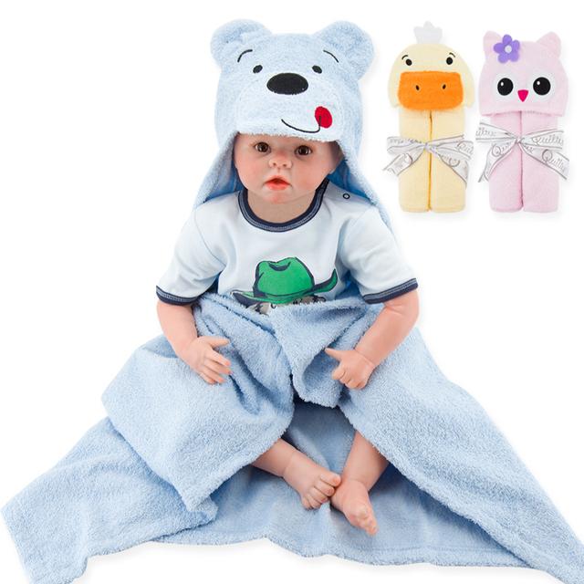 Детское полотенце, банных халат с капюшоном для новорожденных