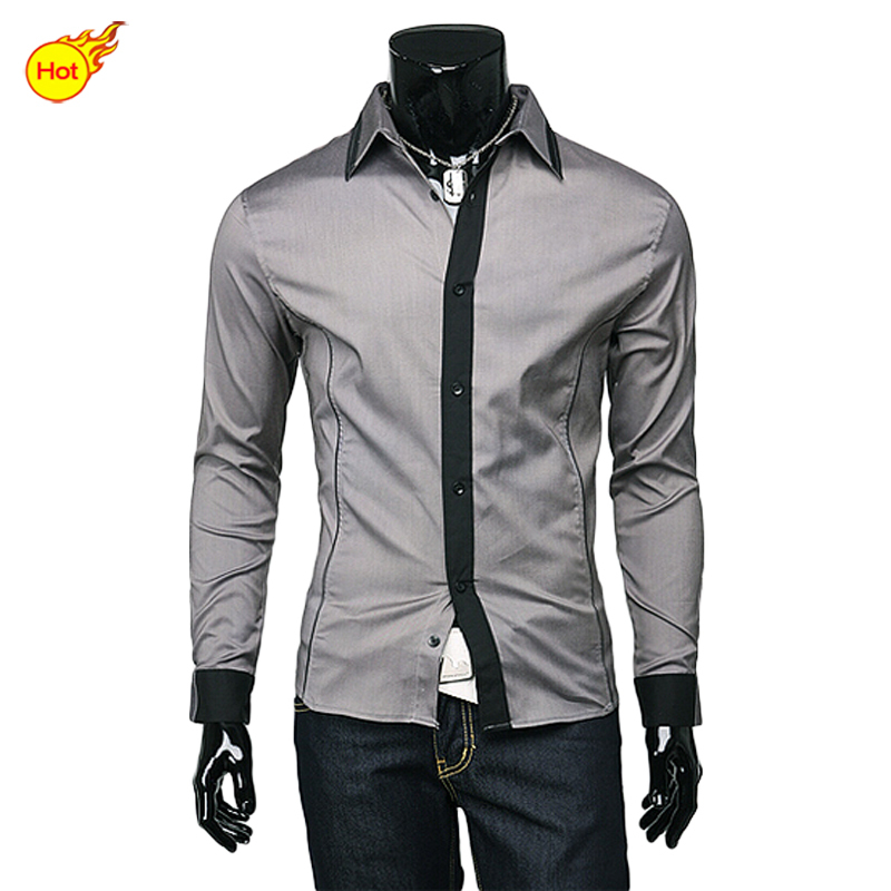 Big sale free shipping 2015 men clothes slim fit casual for Dress shirts on sale online