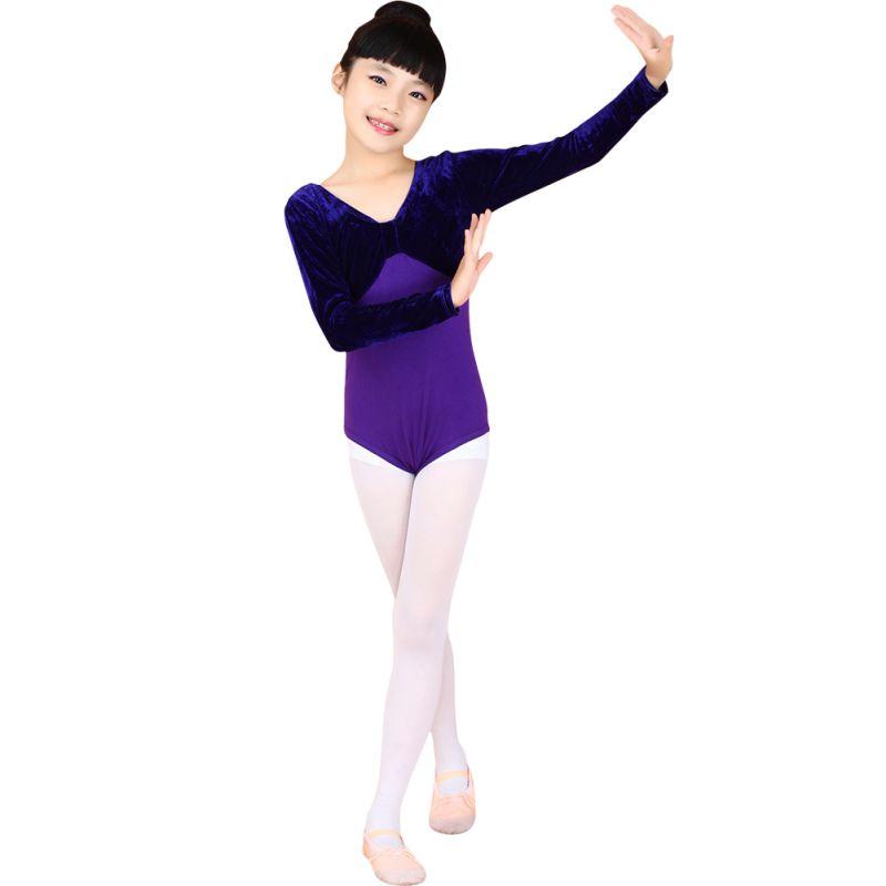 Fashion 4-11Y Kid Girl Cute Gymnastics Dance Leotard Dress Ballet Tutu Dress LG78