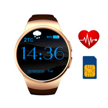2016 KW18 round smart watch with SIM card IPS screen MTK2502C smartwatch reloj inteligente for Apple IOS & Samsung Android phone