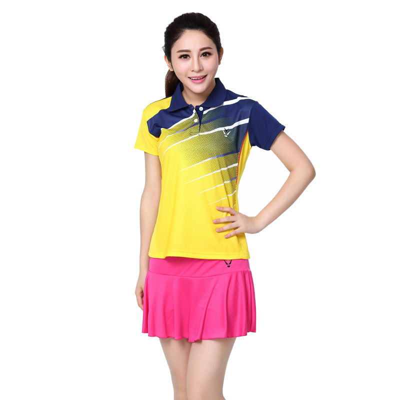 RACE WAYsummer style women's tennis dress shirt / skirt badminton / tennis clothing / Tennis Apparel /Badminton shirt + culottes(China (Mainland))