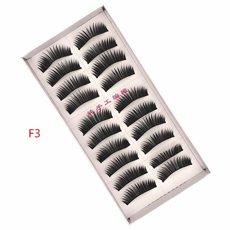 8 Styles 10 Pairs/Set Thick Black False Eyelashes Hair Soft Fake Eye Lashes Human Hair Lash Makeup Tools