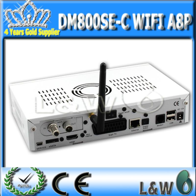 Free shipping dvb c set top box hd800se digital tv box 800hd se support 300M wifi cable tuner dm 800se wifi a8p(China (Mainland))
