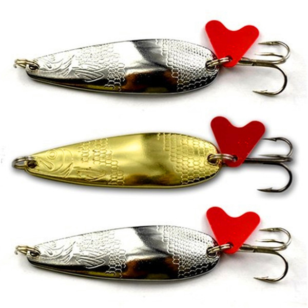 Metal Spinner Spoon Fishing Lure Hard Baits Sequins Noise Paillette Artificial Bait with Treble Hook Tackle 3/6/8/10/12/14g(China (Mainland))