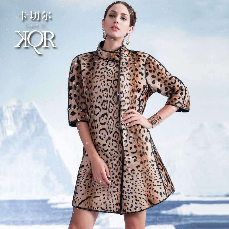 2014 full leather fashion leopard print wool fur coat long fur womens design winter jacket women fucoat  Free shipping Одежда и ак�е��уары<br><br><br>Aliexpress