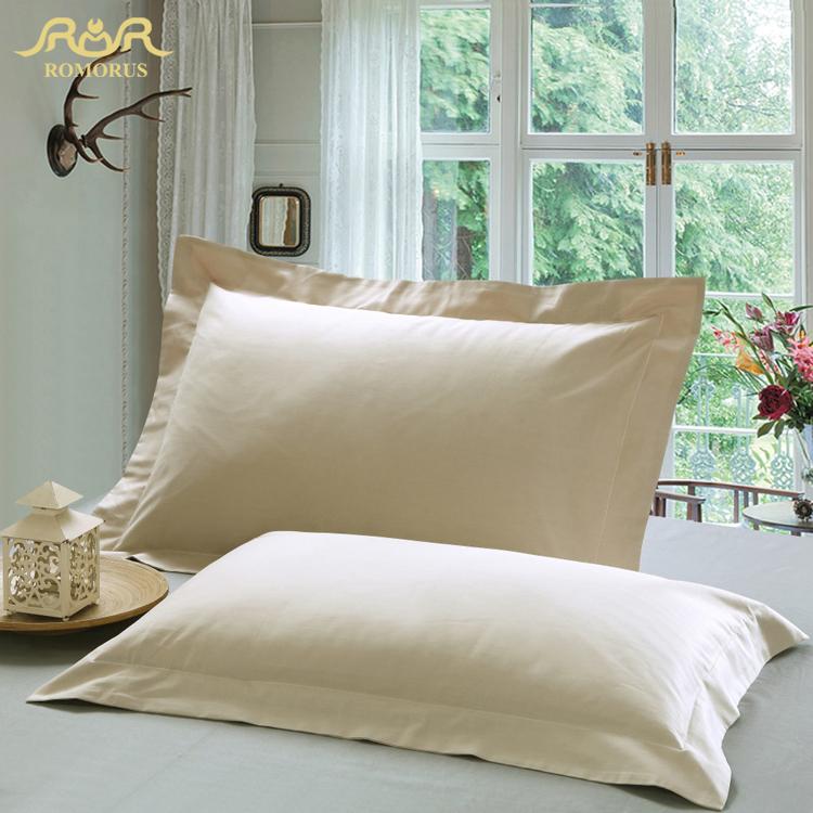 ROMORUS Pillow Cover Standard Queen Case Solid 100% Cotton Linen Pillowcase Pink/Blue/Grey Decorative Sleep Pillow Covers(China (Mainland))