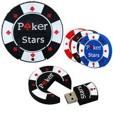 Flash usb U disk mini pen drive 4GB 8GB 16GB 32GB 64GB cartoon rubber Poker Stars pokerstars USB flash Free shipping