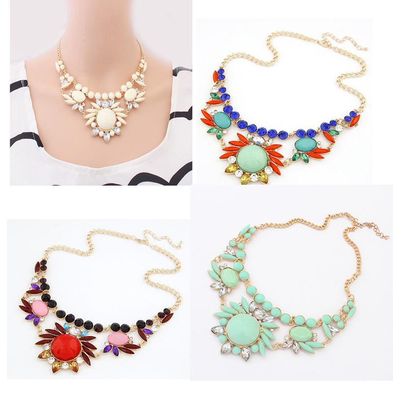 produto Wholesale Women Necklaces Fashion Jewelry Mixed Style Irregular Bubble Bib Statement Necklaces & pendants meus pedidos