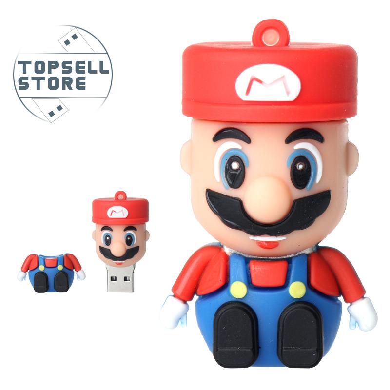 Гаджет  Wholesale cheap Cartoon mini Super Mario model 8GB 16GB 32GB USB Flash Drive Thumb/Car Pen drive 64gb Personality Gift Freeship None Компьютер & сеть