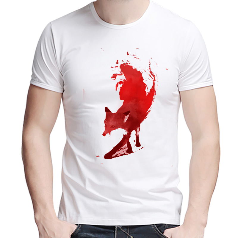 Newest 2017 men's fashion short sleeve quick fox printed t-shirt funny tee shirts Hipster O-neck Lazio popular tops(China (Mainland))