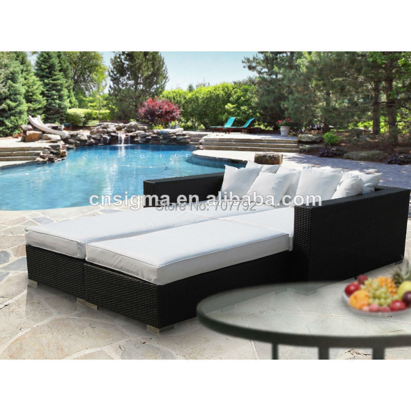 Modern patio rattan outdoor pool bed(China (Mainland))
