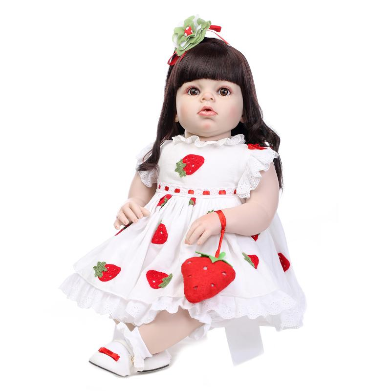 Large size 28 70CM Baby doll rebornfor girls  silicone real reborn babies bonecas toys for children<br><br>Aliexpress