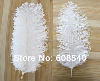 10pcs14-16'' (35-40cm) White Ostrich Feathers  Wedding Decoration AE00336-1