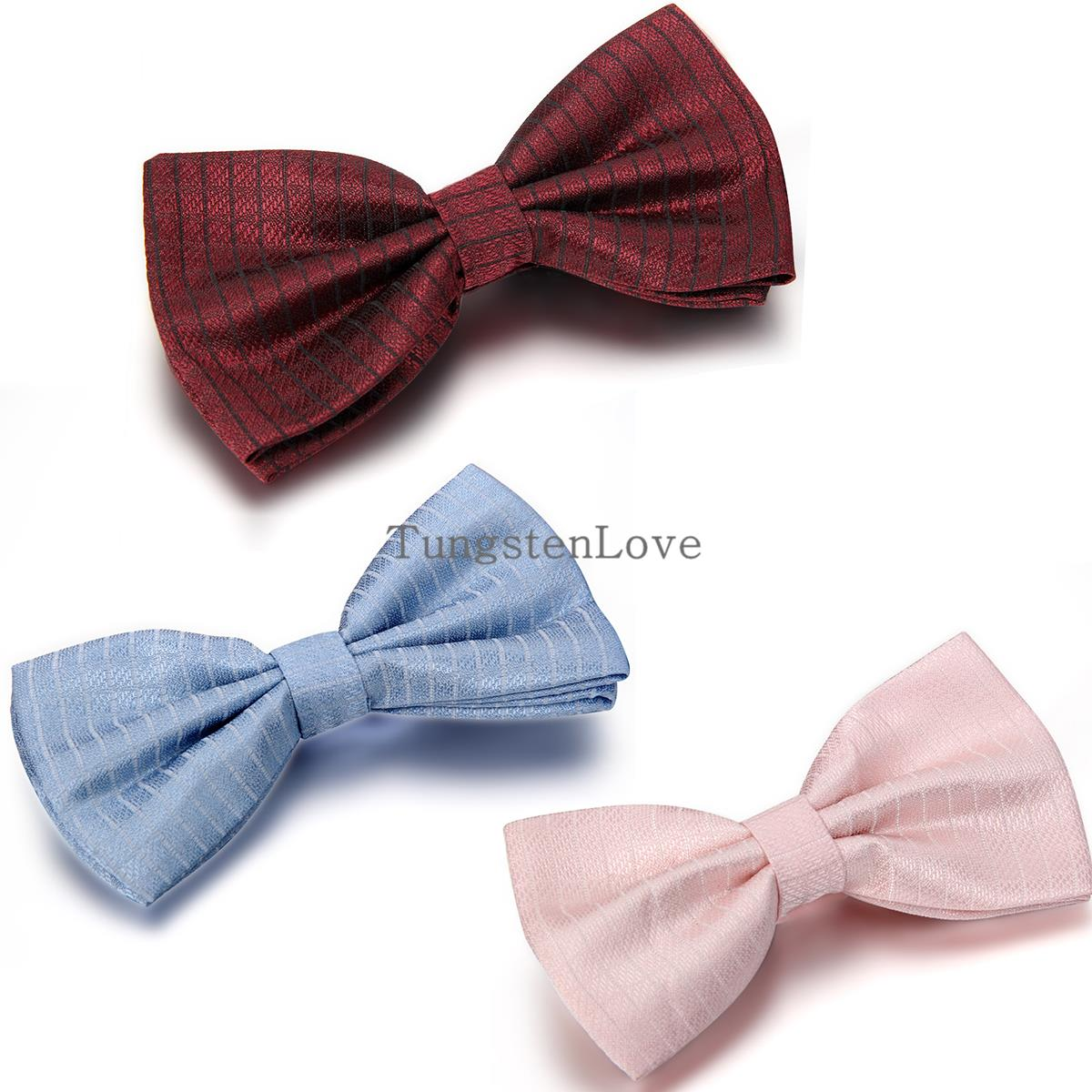2015 Gentleman Wedding Party Tuxedo Marriage Butterfly Cravat Men Solid Bow Tie Adjustable Business Bowties For Gifts 3 Colors(China (Mainland))