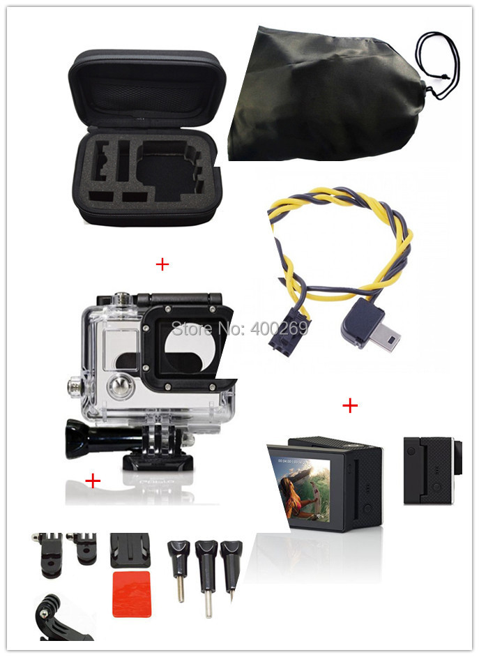 Waterproof Case for Gopro Hero +Case Sticker for Gopro+.Wrist Mount with screw for GoPro Hero+GOPRO Suction Cup<br><br>Aliexpress