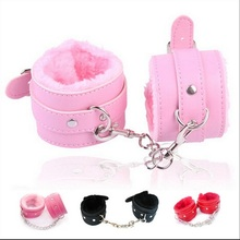 BDSM soft 1pair PU Leather Handcuffs Sex set  Restraints Costume Bondage Play Sex Toy for couples fetish PlayChain SM Adult Game