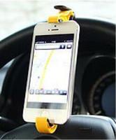 Новый 2015 рулевого колеса колыбели держатель клипа автомобиль кронштейн для мобильного телефона gps