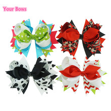 Buy 1PC 5.5 Inches Kids Hair Accessories Hair Bows Headbands Girl Headwear Ribbon Bows Hair Clips Cute Girls Hairpin for $1.79 in AliExpress store