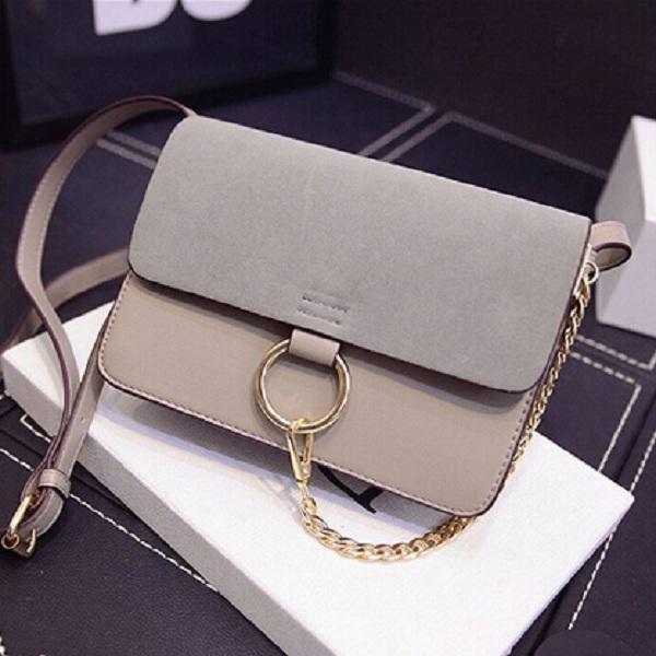 New fashion 2015 summer and autumn fake bag scrub women's handbag chain scrub leather shoulder bag women messenger bags 3colors (China (Mainland))