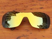 24K Golden Mirror Polarized Replacement Lenses For Antix Sunglasses Frame 100% UVA & UVB Protection