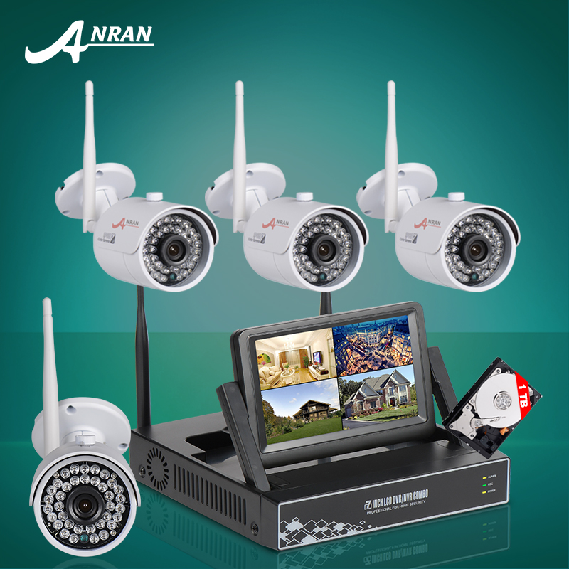 Anran Plug And Play 7 Inch LCD Screen Wireless NVR Kit CCTV System 720P HD WIFI IP Camera Outdoor IR Security Camera 1TB HDD(China (Mainland))