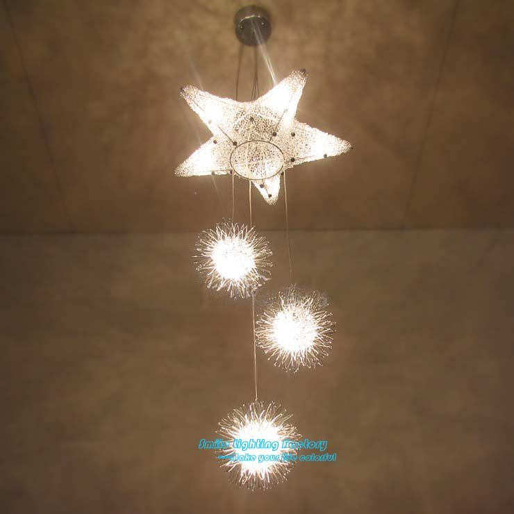 Free Shipping Children style pendant lamp,Aluminium Star Spot pendant light<br><br>Aliexpress