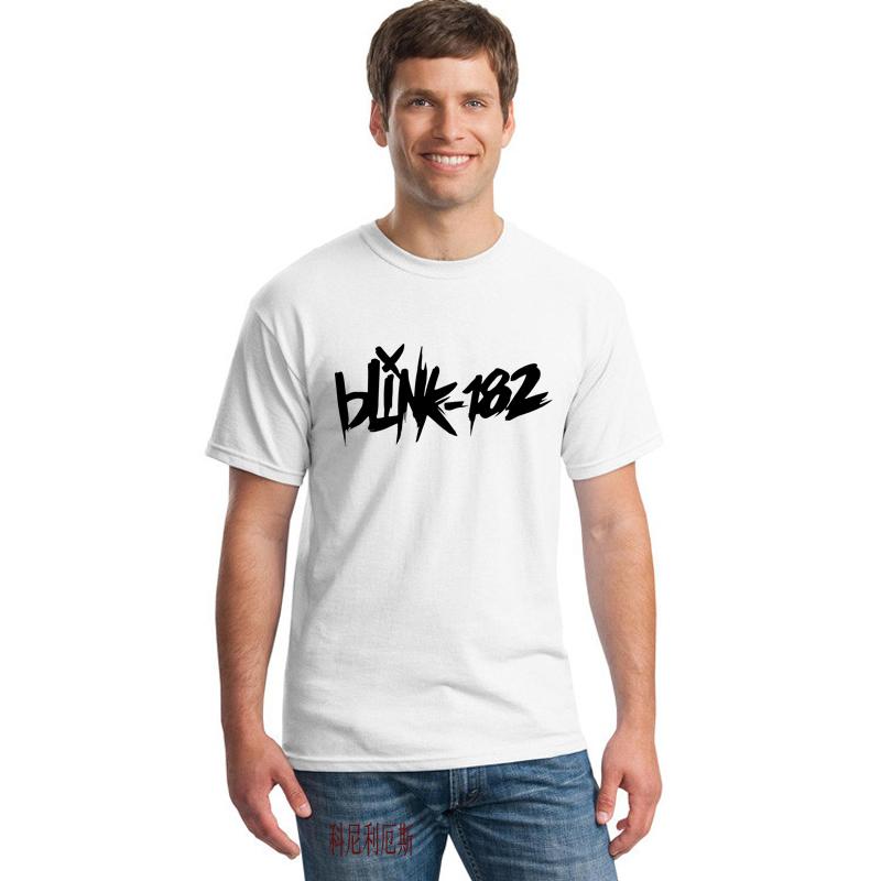 Hot Sale Men T Shirts Blink 182 Printed Costume T-shirts Summer Male O Neck Short Sleeve New Tops Tshirts Music Band Dress 45(China (Mainland))