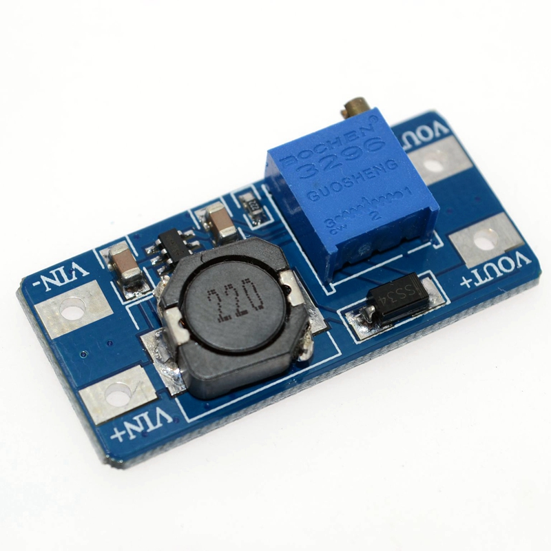 MT3608 2A Max DC-DC Step Up Power Module Booster Power Module For Arduino 3-5V to 5V/9V/12V/24V 20PCS