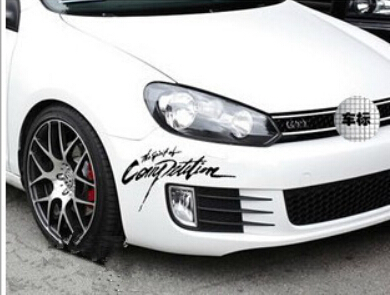 cool Rally sticker 28*13cm car styling toyota vw polo pet 100%NEW(China (Mainland))