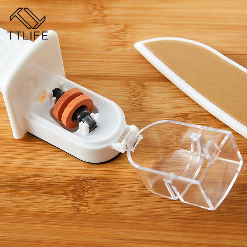 TTLIFE New Brand Anti-skid PP Ceramics Knife Sharpener Kitchen Fast Knife Sharpening Whetstone Kitchen Knife Accessories(China (Mainland))