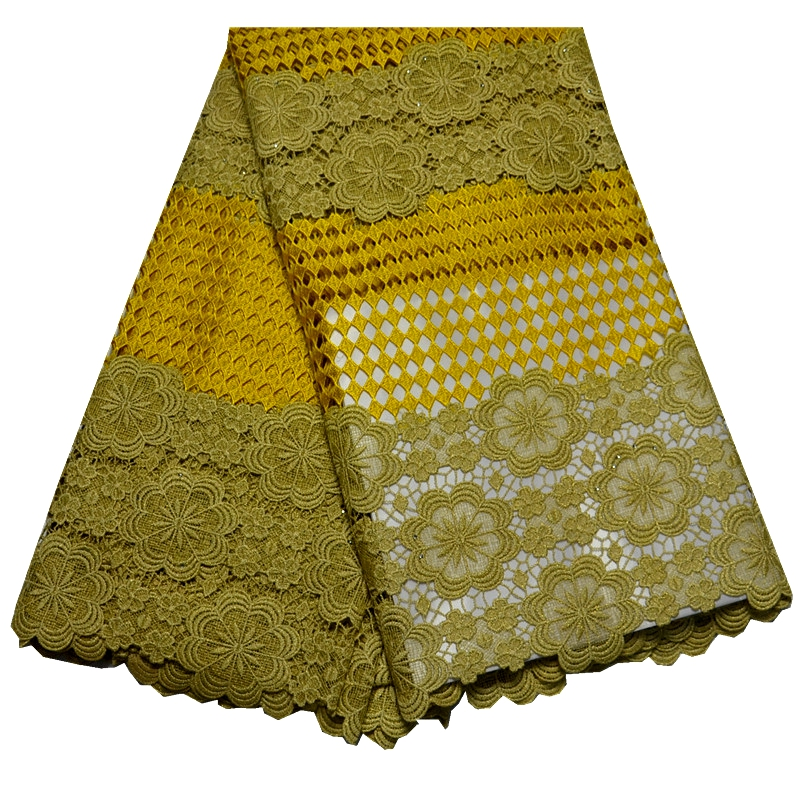 New Arrival High Quality African French net Lace Fabric With stones Tulle Lace Fabric indian raw silk georges light yellow lace(China (Mainland))