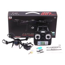 Mini Drone DM007 2.4GHz 4 Channel LCD Remote Control RC Quadcopter 6 Axis Gyro with 0.3MP HD Camera RTF Helicopters
